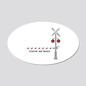 Stayin' On Track Wall Decal