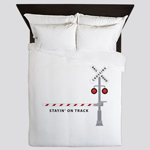 Stayin' On Track Queen Duvet