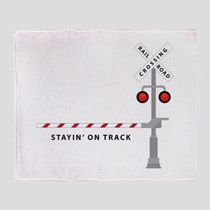 Stayin' On Track Throw Blanket