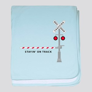Stayin' On Track baby blanket