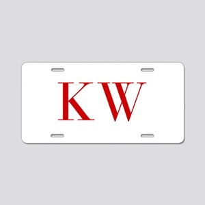 KW-bod red2 Aluminum License Plate