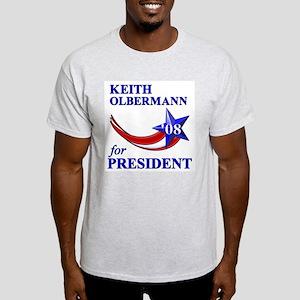 Keith Olbermann for President Light T-Shirt