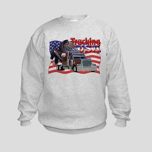Trucking USA Kids Sweatshirt