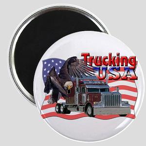 Trucking USA Magnet