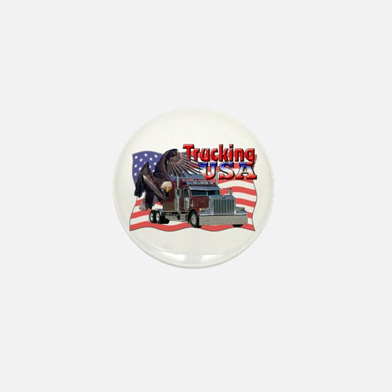 Trucking USA Mini Button