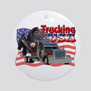 Trucking USA Ornament (Round)