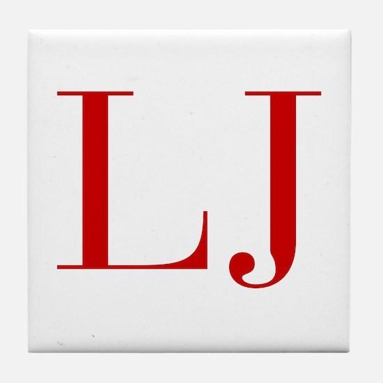 LJ-bod red2 Tile Coaster