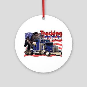 Trucking USA Ornament (Round)