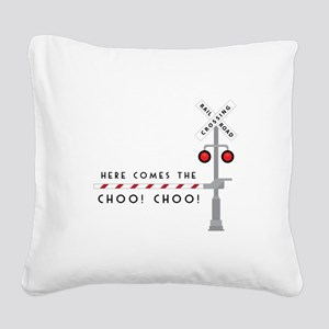 Here Comes Square Canvas Pillow