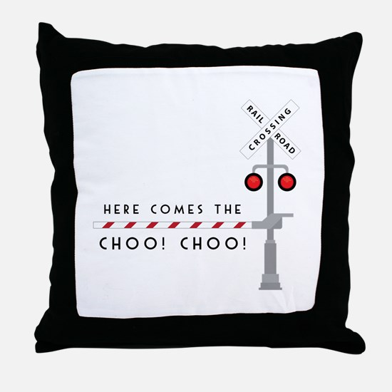 Here Comes Throw Pillow