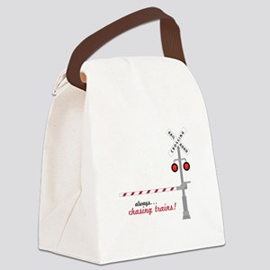 Chasing Trains! Canvas Lunch Bag