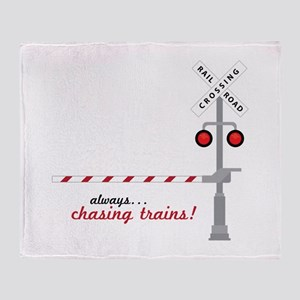 Chasing Trains! Throw Blanket