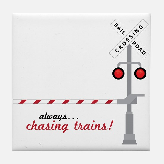 Chasing Trains! Tile Coaster