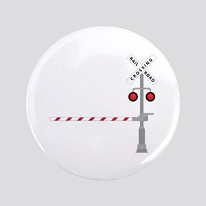 "Railroad Crossing 3.5"" Button"