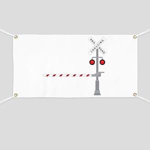 Railroad Crossing Banner