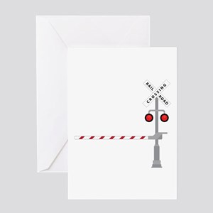 Railroad Crossing Greeting Cards