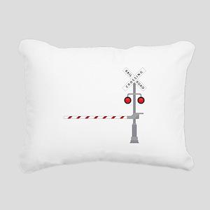 Railroad Crossing Rectangular Canvas Pillow