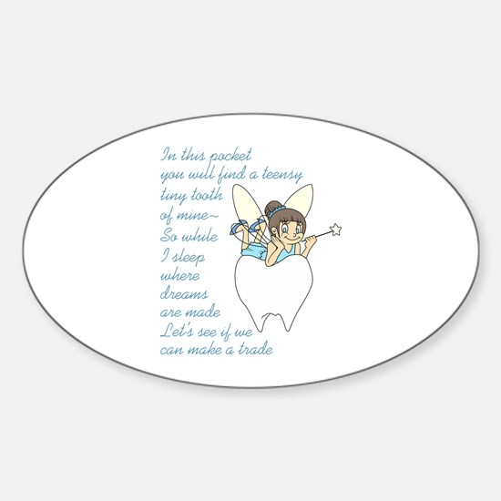 TOOTH FAIRY POEM Decal