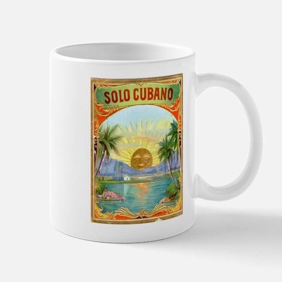 Solo Cubano Cigar Art Mug