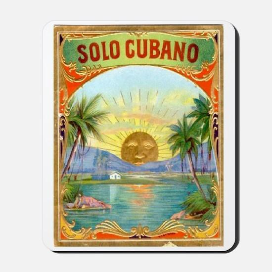 Solo Cubano Cigar Art Mousepad