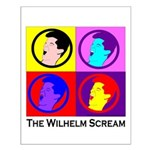 Color Wilhelm Scream Small Poster