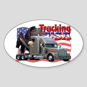 Trucking USA Oval Sticker