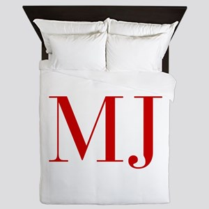MJ-bod red2 Queen Duvet