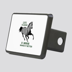 A HORSE MAKES LIFE GOOD Hitch Cover