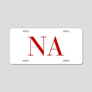 NA-bod red2 Aluminum License Plate