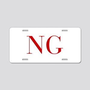 NG-bod red2 Aluminum License Plate