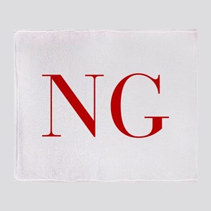 NG-bod red2 Throw Blanket