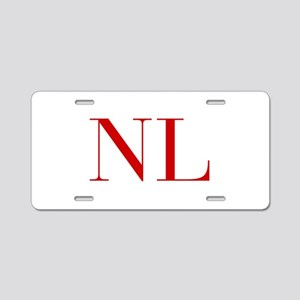 NL-bod red2 Aluminum License Plate