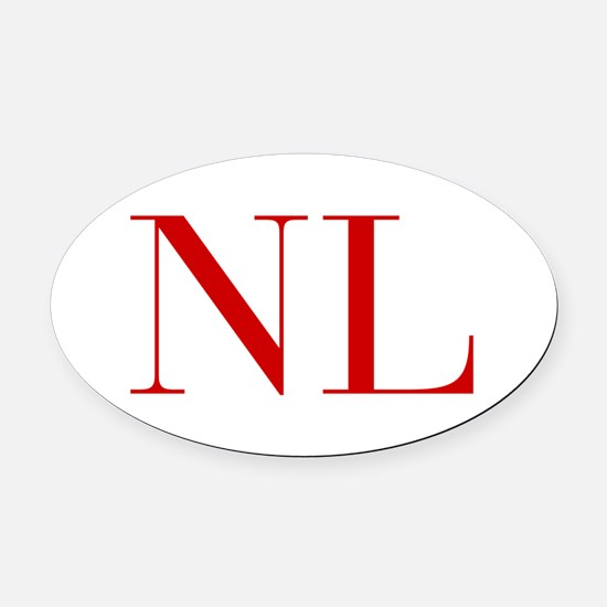 NL-bod red2 Oval Car Magnet
