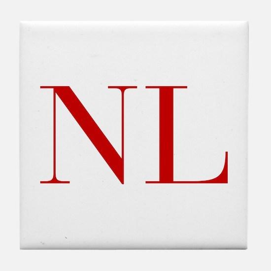 NL-bod red2 Tile Coaster