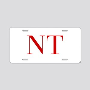 NT-bod red2 Aluminum License Plate