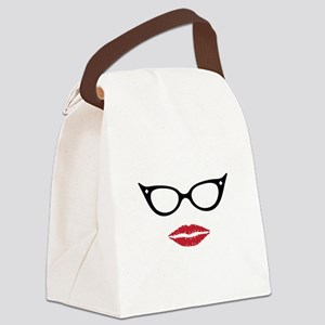 Gorgeous Lady Canvas Lunch Bag