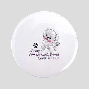 "POMERANIANS WORLD 3.5"" Button"