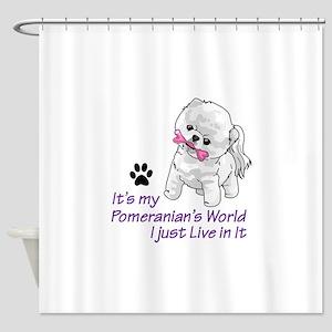 POMERANIANS WORLD Shower Curtain