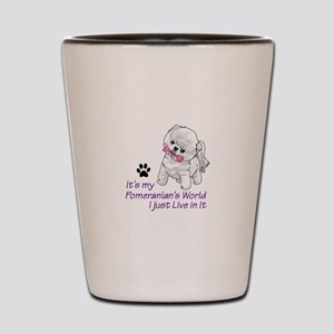 POMERANIANS WORLD Shot Glass