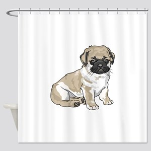 PUG PUPPY Shower Curtain