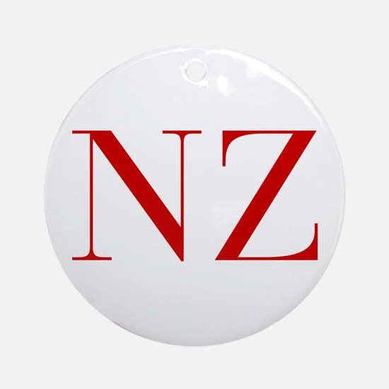 NZ-bod red2 Ornament (Round)
