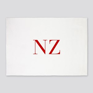 NZ-bod red2 5'x7'Area Rug