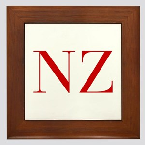 NZ-bod red2 Framed Tile