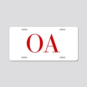 OA-bod red2 Aluminum License Plate