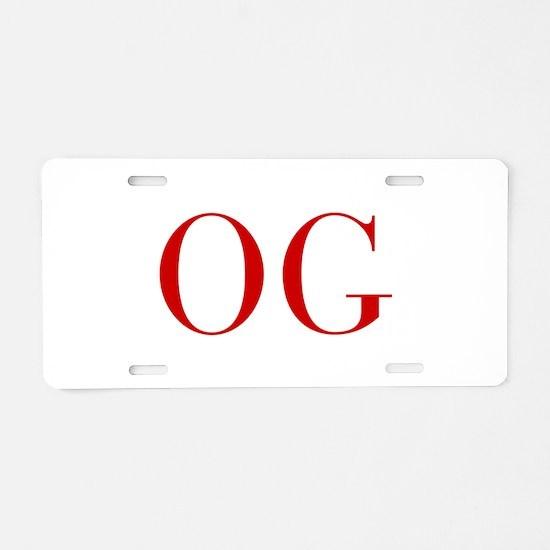OG-bod red2 Aluminum License Plate
