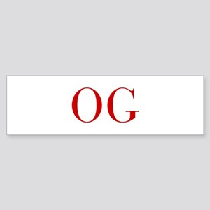 OG-bod red2 Bumper Sticker