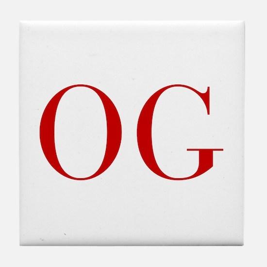 OG-bod red2 Tile Coaster