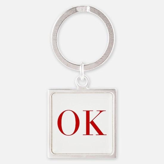 OK-bod red2 Keychains
