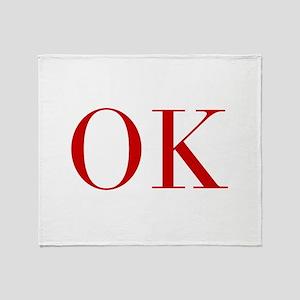 OK-bod red2 Throw Blanket