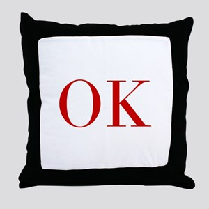 OK-bod red2 Throw Pillow